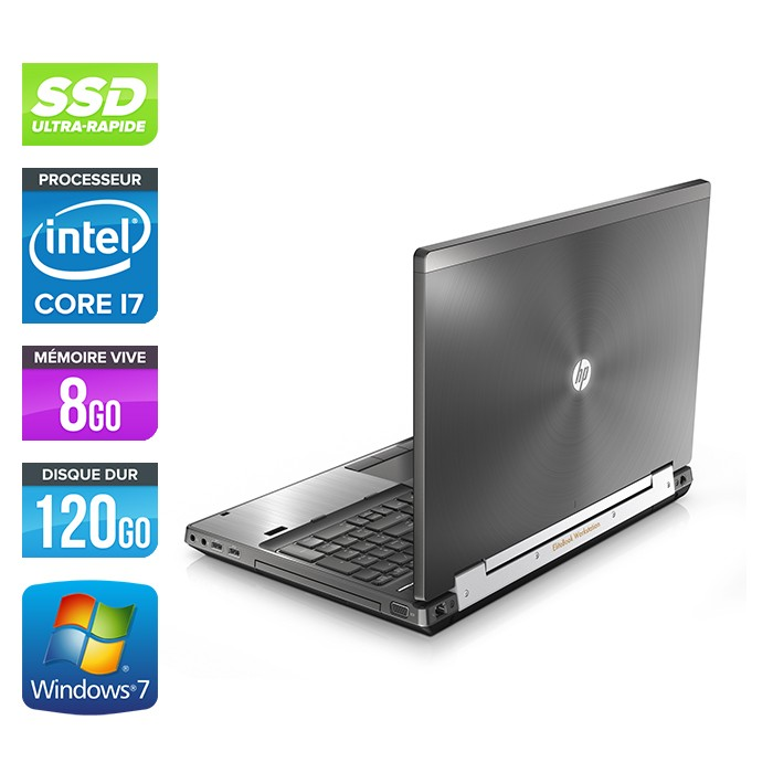 pc portable occasion hp elitebook 8570w core i7 8go 120 go ssd 15 6 39 39 windows 7. Black Bedroom Furniture Sets. Home Design Ideas