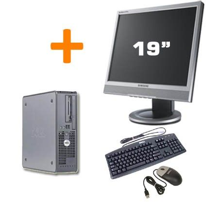 PC BUREAU DELL OPTIPLEX GX760 SFF + Ecran TFT 19""