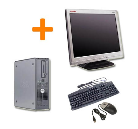 PC BUREAU DELL OPTIPLEX 745 + Ecran TFT 15""