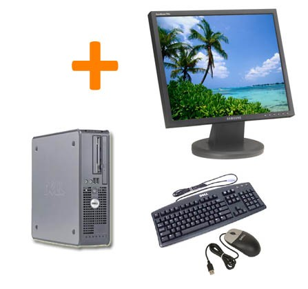 PC BUREAU DELL OPTIPLEX 520 + Ecran TFT 17""