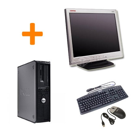 "Dell Optiplex GX745 + Ecran TFT 15"" + Clavier + Souris"