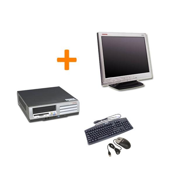"HP Compaq Evo D51s SFF + Ecran TFT 15"" + Clavier + Souris"