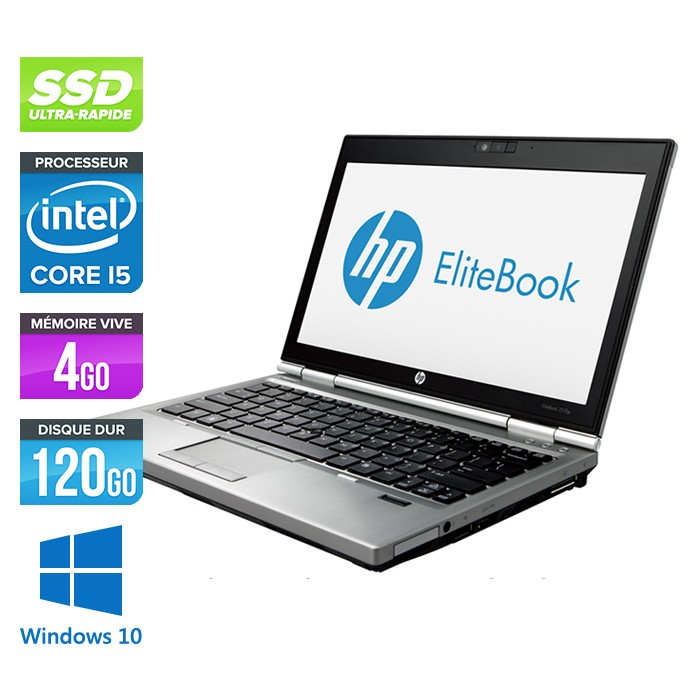 HP EliteBook 2570P - Core i5 - 4Go - 120Go SSD - Windows 10