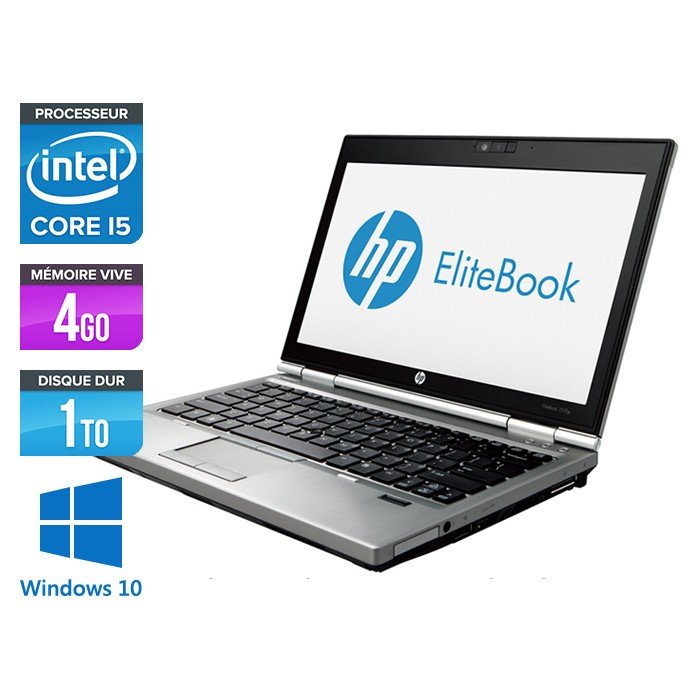 HP EliteBook 2570P - Core i5 - 4Go - 1To - Windows 10