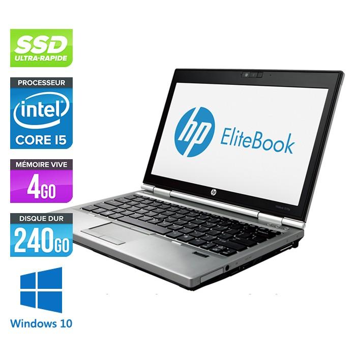 HP EliteBook 2570P - Core i5 - 4Go - 240Go SSD - Windows 10