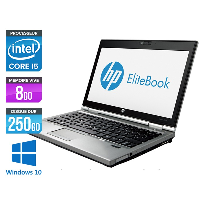 HP EliteBook 2570P - Core i5 - 8Go - 250Go - Windows 10