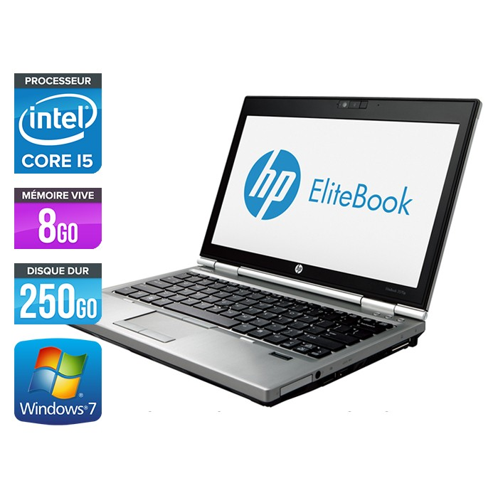 HP EliteBook 2570P - Core i5 - 8Go - 250Go