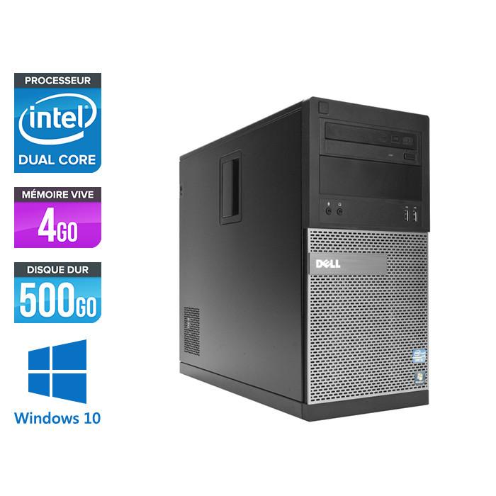 Pc de bureau reconditionné Dell 3010 Tour - Pentium - 4Go - 500Go HDD - Windows 10