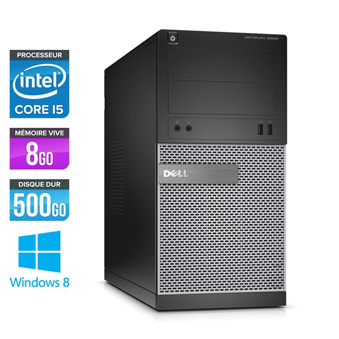 Dell Optiplex 3020 Tour - Core i5 - 8Go - 500Go
