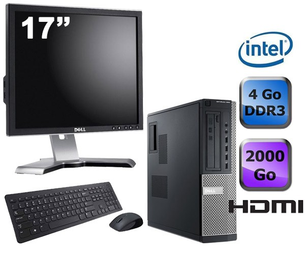 Dell Optiplex 390 Desktop + Ecran 17""