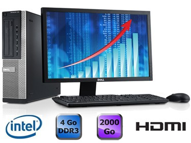 Dell Optiplex 390 Desktop + Ecran 22""