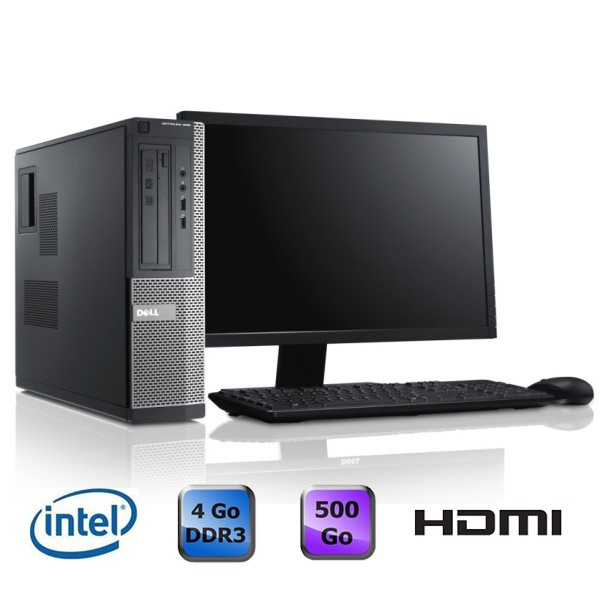 Dell Optiplex 390 Desktop + Ecran 20""