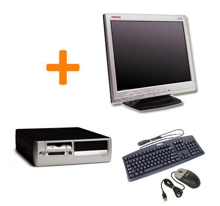 """HP D530 SFF + Ecran TFT 15"""" + Clavier + Souris"""