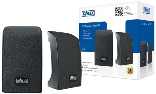 Enceintes PC - Haut-parleurs Sweex SP027 - 2.0 2 W - Noir