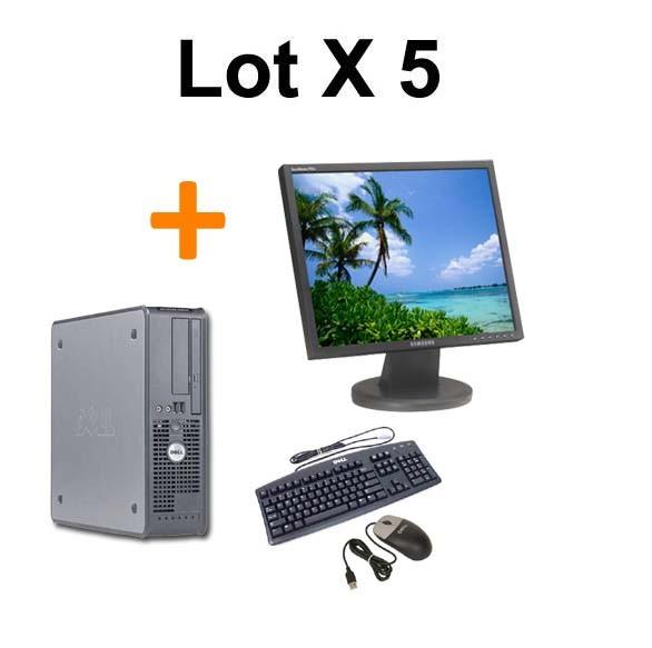 """Lot de 5 DELL OPTIPLEX GX620 SFF + Ecran TFT 17"""""""