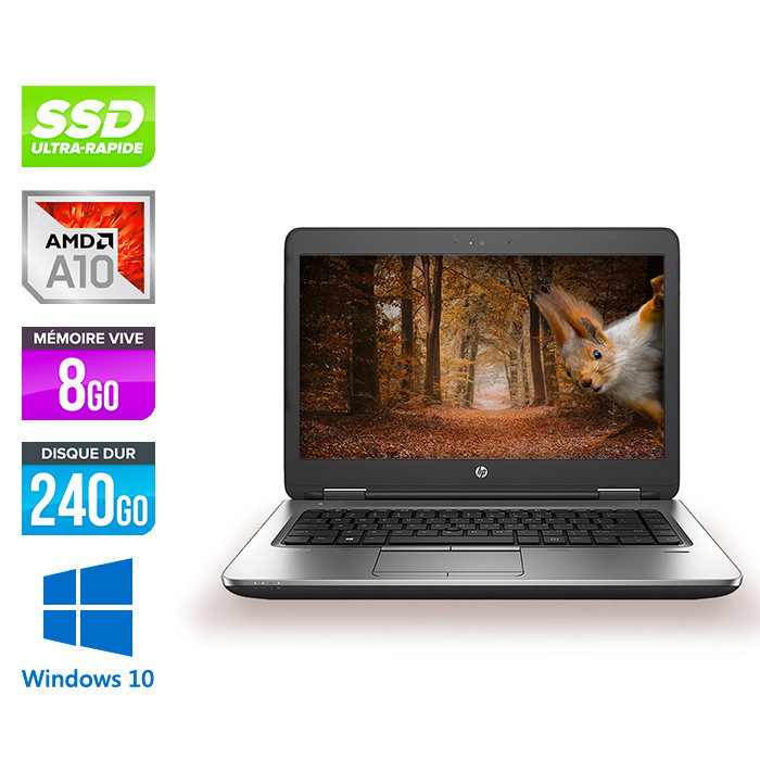 HP ProBook 645 G3 - AMD A10 - 8Go - 240Go SSD - 14'' HD - Windows 10
