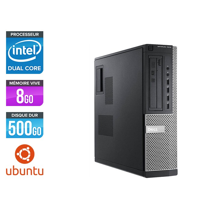 Dell 7010 Desktop - intel G2020 - 8 Go -500 Go - linux