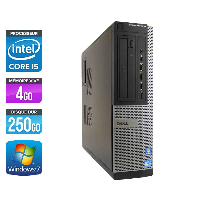 Dell Optiplex 7010 Desktop - Core i5 - 4Go - 250Go