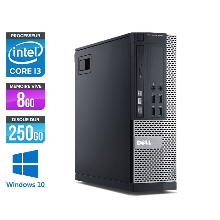 Dell Optiplex 7010 SFF - i3 - 8 Go - 250 Go HDD - Windows 10