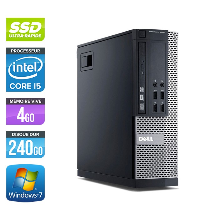 Dell Optiplex 7010 SFF - Core i5 - 4Go - 240Go SSD