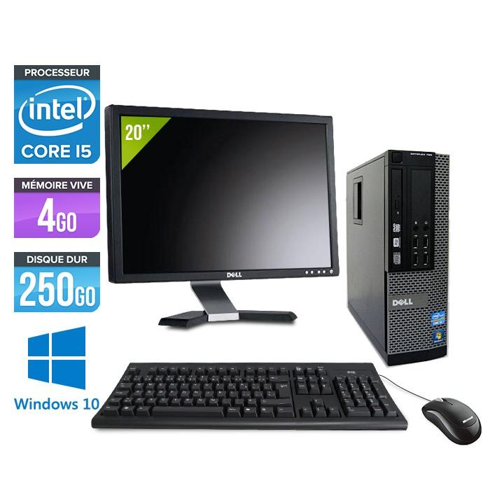 Dell Optiplex 7010 SFF + Ecran 20'' - Core i5 - 4Go - 250Go - Windows 10