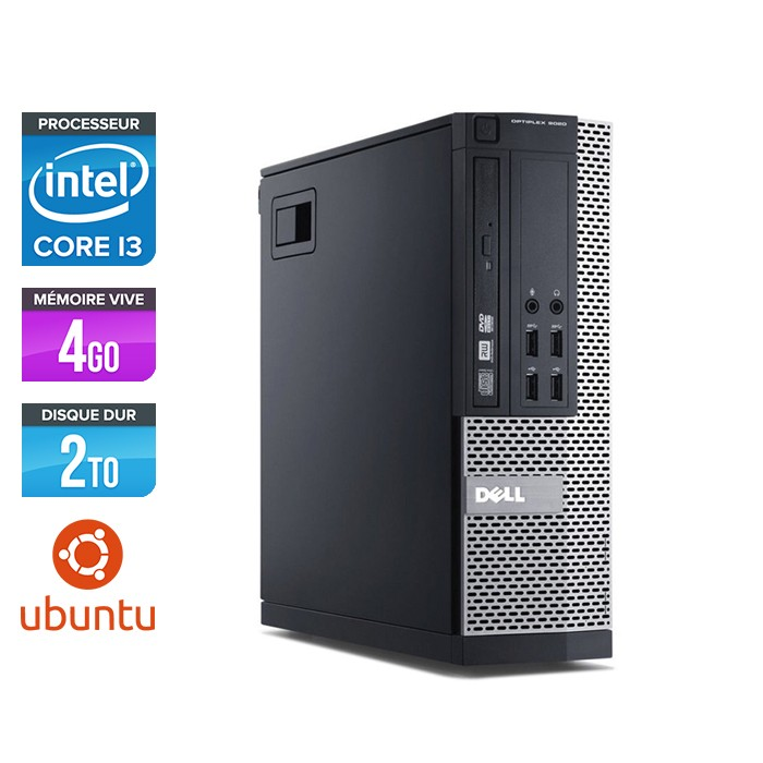 Dell Optiplex 7020 SFF - Intel i3 - 4go - 2To -hdd - Linux