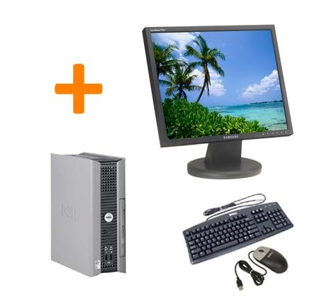 PC BUREAU DELL OPTIPLEX GX755 USFF + Ecran TFT 17""