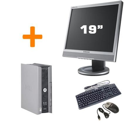 PC BUREAU DELL OPTIPLEX GX755 USFF + Ecran TFT 19""
