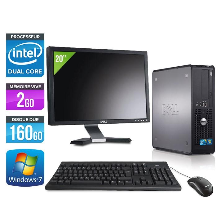 """Dell Optiplex 780 - E5300 + Ecran 20"""" - E5300 - 2Go - 160Go"""