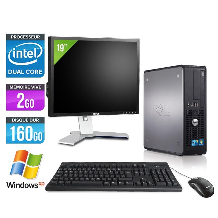 """Dell Optiplex 780 + Ecran 19"""" - E5300 - 2Go - 160Go - XP Professionnel"""