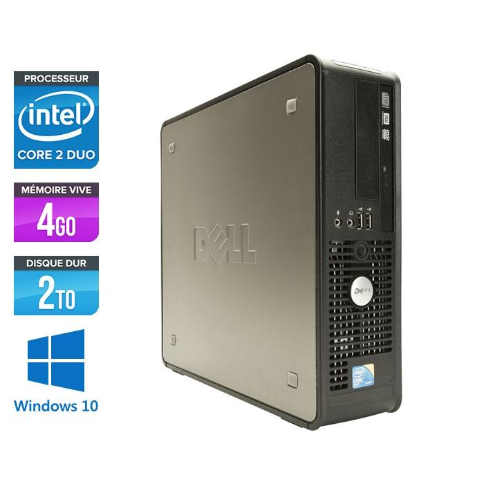 Dell Optiplex 780 SFF - Core 2 Duo E7500 - 4Go - 2To - Windows 10