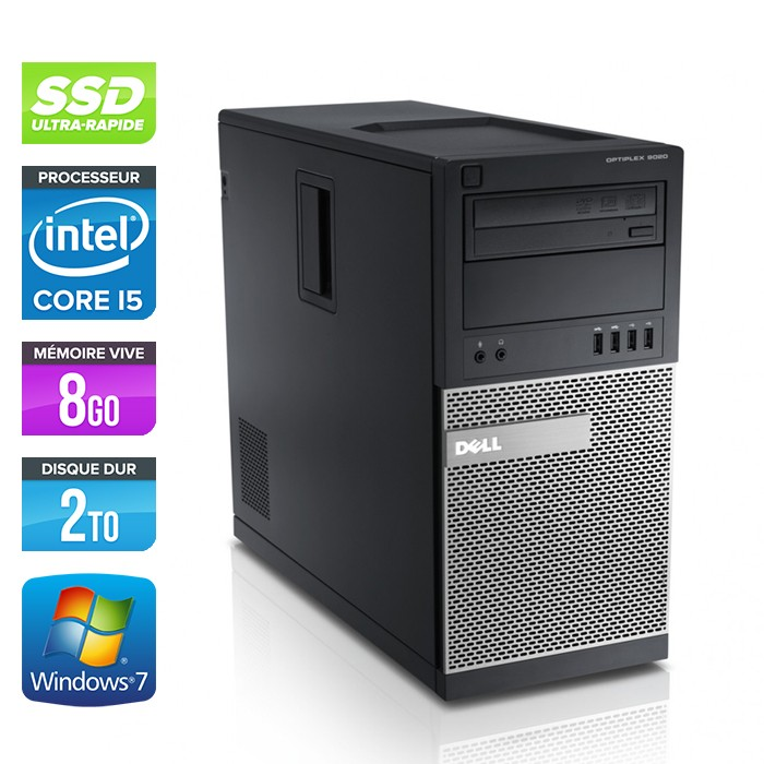 Dell Optiplex 790 Tour - Core i5 - 8Go - 120Go SSD / 2To HDD