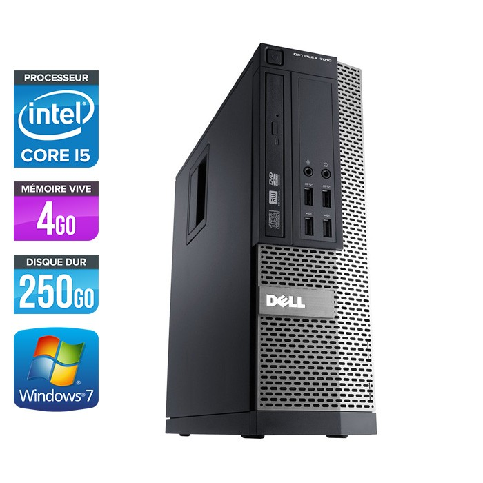 Dell Optiplex 790 SFF - Core i5 - 4Go - 250Go