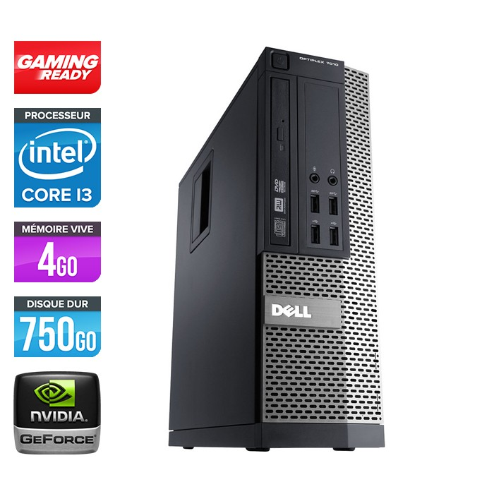 Dell Optiplex 790 SFF - Core i3 - 4Go - 750Go - Nvidia GT 720