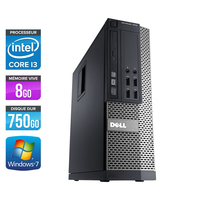 Dell Optiplex 790 SFF - Core i3 - 8Go - 750Go