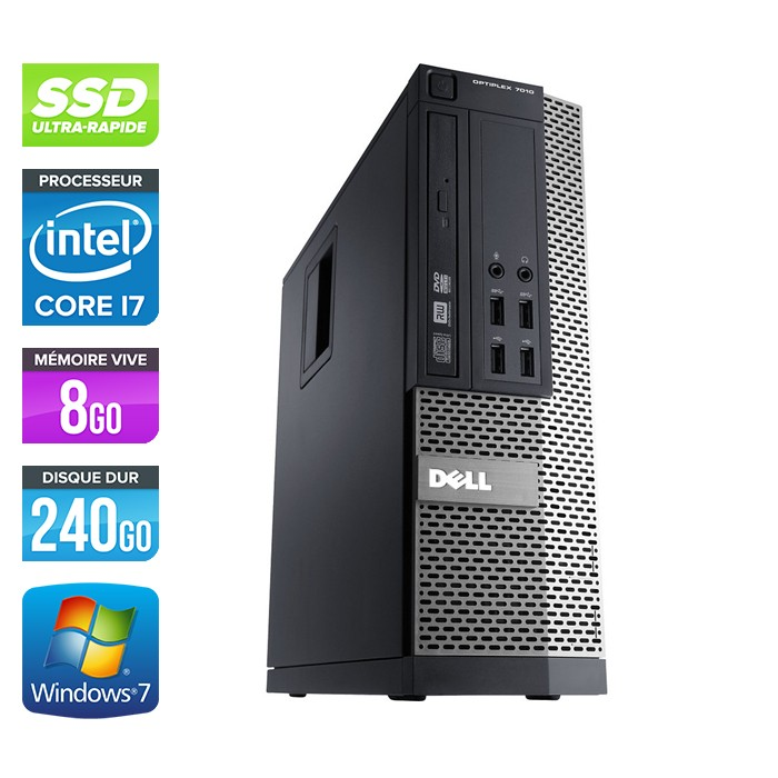 Dell Optiplex 790 SFF - Core i7 - 8Go - 240Go SSD