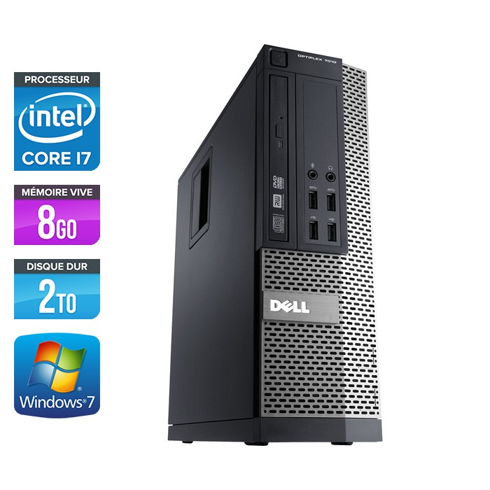 Dell Optiplex 790 SFF - Core i7 - 8Go -2To