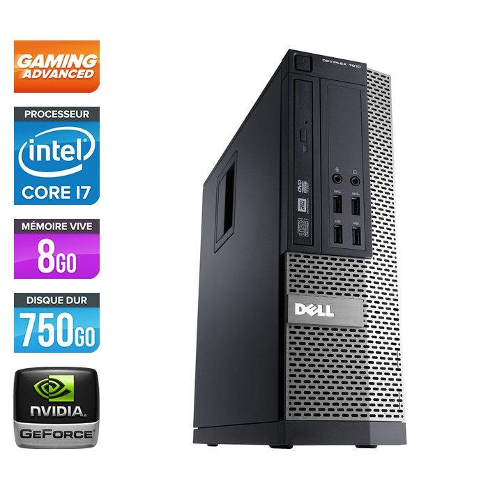 Dell Optiplex 790 SFF - Core i7 - 8Go - 750Go - Nvidia GTX 750 Ti
