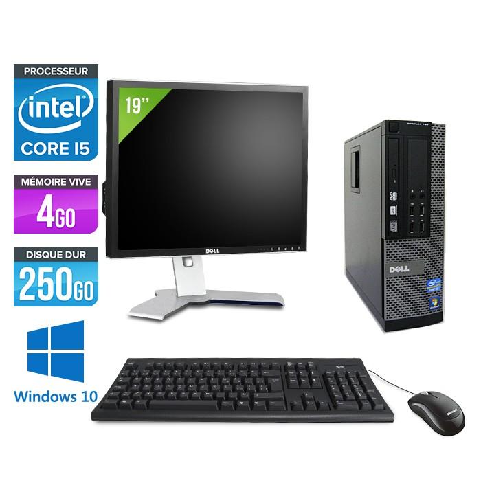 """Dell Optiplex 790 SFF - Core i5 - 4Go - 250 go hdd- windows 10 - Ecran 19"""""""