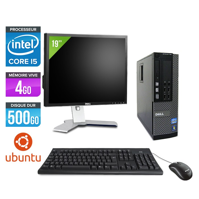 pc occasion dell 790 sff ecran 19 core i5 4 go 500 go hdd linux trade discount. Black Bedroom Furniture Sets. Home Design Ideas