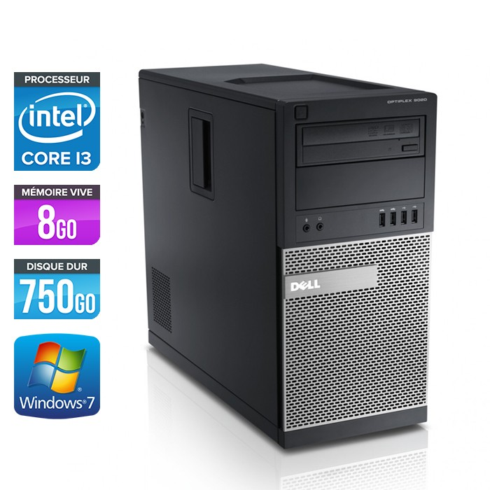 Dell Optiplex 790 Tour - Core i3 - 8Go - 750Go