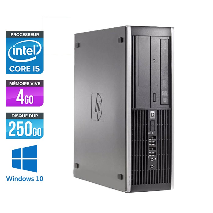 HP Elite 8100 SFF - Core i5 - 4Go - 250Go - Windows 10