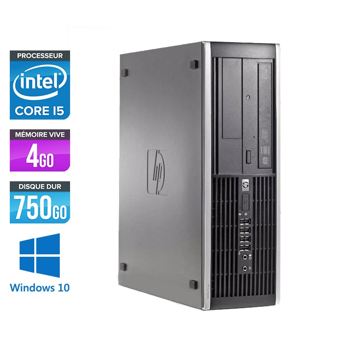 HP Elite 8100 SFF - Core i5 - 4Go - 750Go - Windows 10