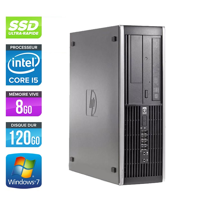 HP Elite 8100 SFF - Core i5 - 8Go - 120Go SSD