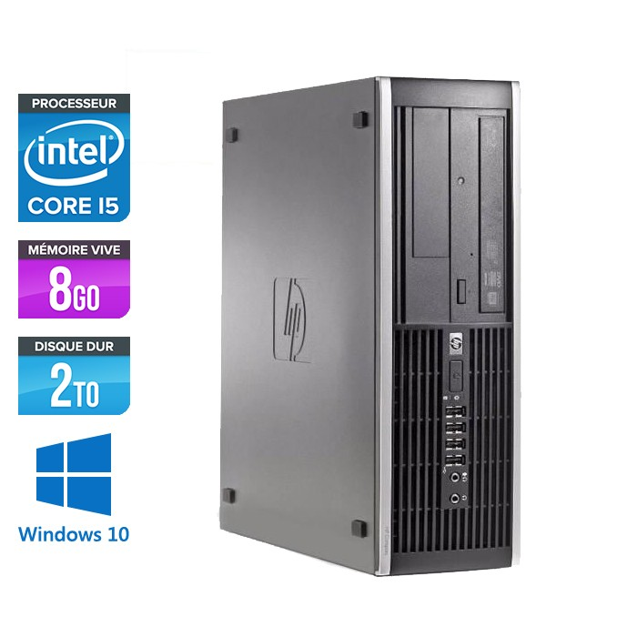 HP Elite 8100 SFF - Core i5 - 8Go - 2To - Windows 10