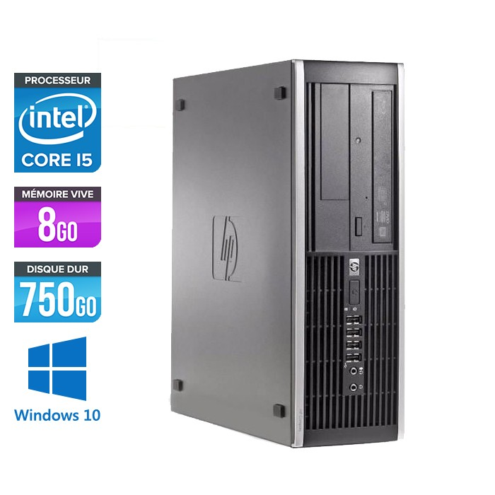 HP Elite 8100 SFF - Core i5 - 8Go - 750Go - Windows 10
