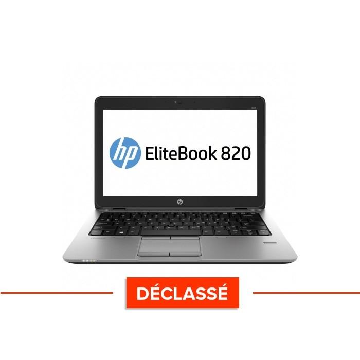 Ordinateur portable reconditionné - HP Elitebook 820 - i5 4300U - 4Go - 500 Go HDD  - Windows 10