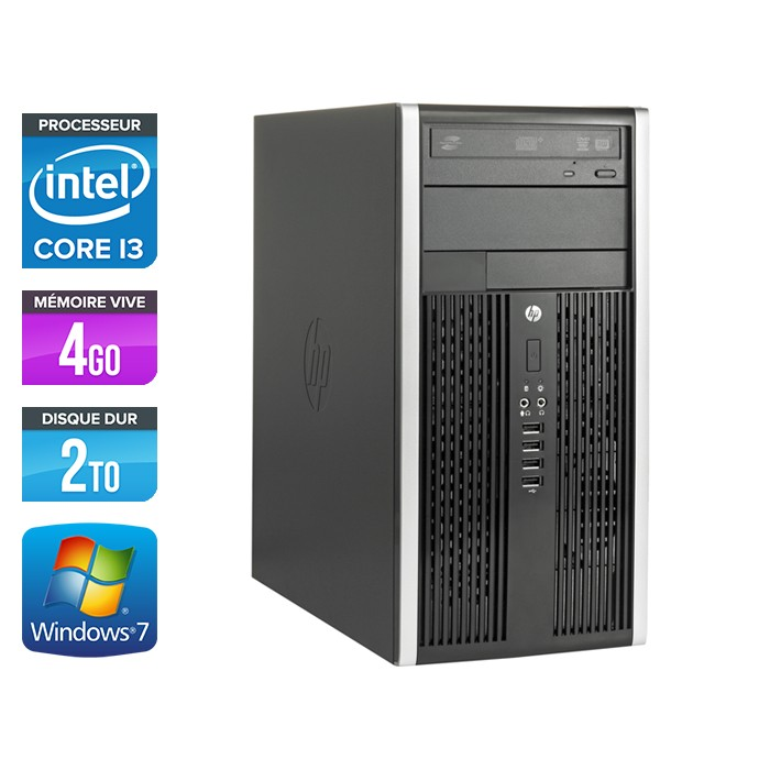HP Elite 8200 Tour - Core i3 - 4Go - 2To