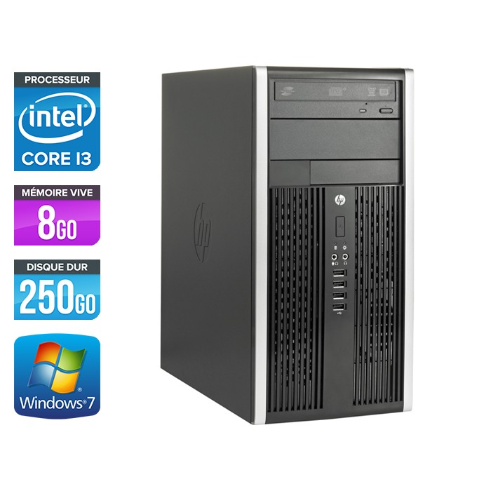 HP Elite 8200 Tour - Core i3 - 8Go - 250Go