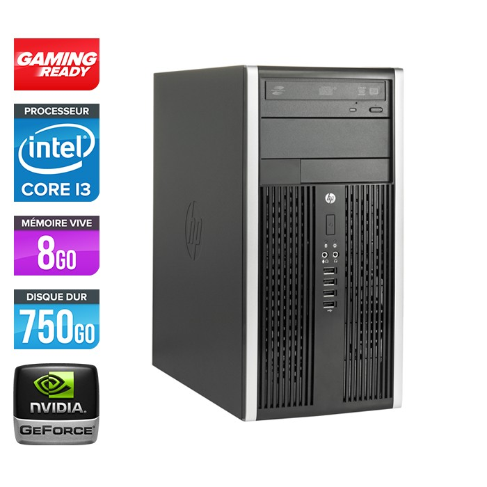 HP Elite 8200 Tour - Core i3 - 8Go - 750Go - Nvidia GT 720
